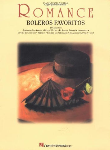 Romance: boleros favoritos: piano / vocal / guitar (Spanish Edition)