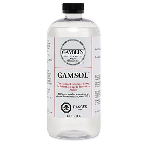 Artists' Grade Gamsol Oil Color Size: 1 Liter, 33.8 Fl. Oz. (2 pack)