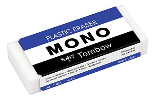 Tombow Mono Big Plastic Eraser, Pack of 10 (PE-07A)