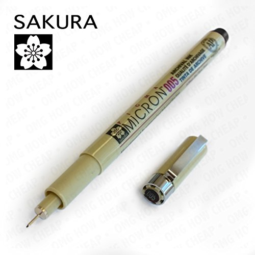 Sakura Pigma Micron - Pigment Fineliners - 0.05mm - Black [Pack of 3]