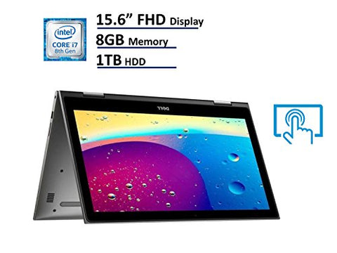 "2018 Dell Inspiron 15 5000 5579 2-in-1 Laptop, 15.6"" Full HD (1920x1080) IPS Touchscreen, Intel 8th"