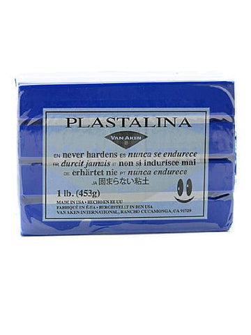 Van Aken Plastalina Modeling Clay ultra blue 1 lb. bar [PACK OF 4 ]