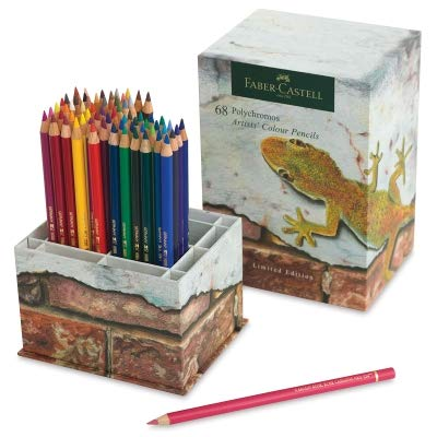 Faber-Castell Limited Edition Polychromos Colour Pencil Cup of 68 Vibrant, Break Resistant Tipped