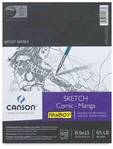 Canson Comic - Manga Hardcover Sketch Book 8.5x11 Inch