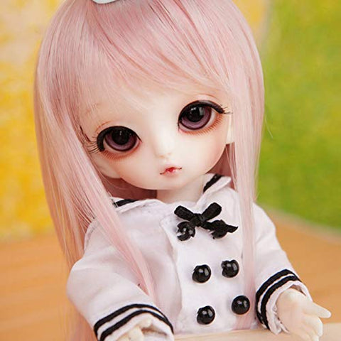 MEESock Pretty 1/8 Mini Bjd Doll SD Dolls Full Set 16Cm 6.3Inch Ball Jointed Dolls Toy Action Figure with Clothes Wig Shoes Handpainted Makeup