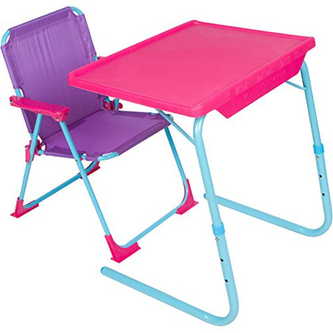 Table-Mate 4 Kids Plastic Folding Table and Chair Set (Pink/Purple/Turquoise)