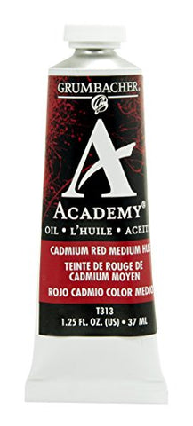 Grumbacher Academy Oil Paint, 37 ml/1.25 oz, Cadmium Red Medium Hue