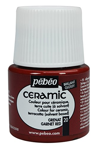 Pebeo Ceramic Enamel Effect Paint, 45 mL, Garnet