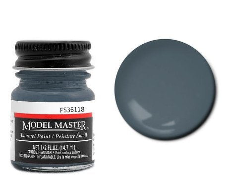 Testor Corp. Gunship Gray Enamel Paint .5 oz bottle FS36118