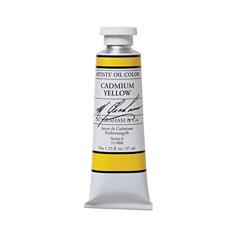 M. Graham Artist Oil Paint Cadmium Yellow 1.25oz/37ml Tube