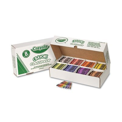 Classpack Regular Crayons, 8 Colors, 800/BX, Sold as 800 Each