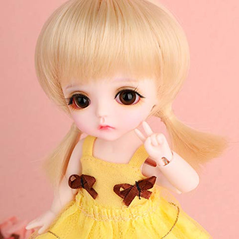 MEESock Exquisiteness Girl BJD Doll 1/8 SD Dolls 6.3 Inch Ball Jointed Doll Cosplay Fashion Dolls DIY Toys with Full Set Clothes Shoes Wig Makeup Best GIF