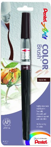 Pentel Arts Color Brush, Sepia, 1-Pack (GFLBP141)