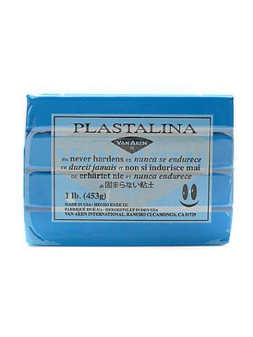Van Aken Plastalina Modeling Clay turquoise 1 lb. bar [PACK OF 4 ]