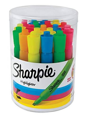 Sharpie Tank Highlighters, Chisel Tip, Assorted Fluorescent, 20 Count (25018)
