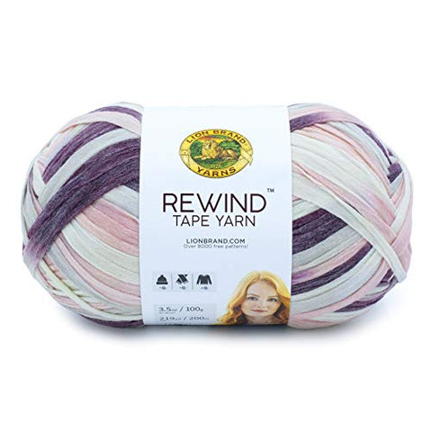 Lion Brand Yarn Rewind yarn, GRAPE JUICE