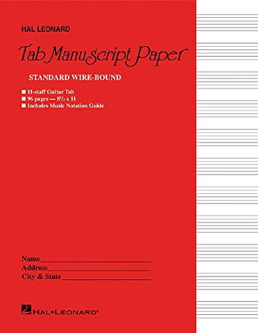 Guitar Tablature Manuscript Paper - Wire-Bound