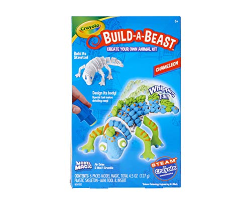 Crayola Build A Beast Chameleon, Model Magic Craft Kit, STEAM/ STEM Learning Toys, Gift for Kids, 5, 6, 7, 8, Multicolor