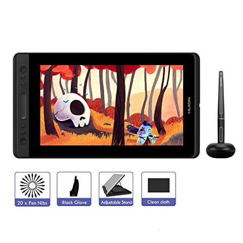 HUION KAMVAS Pro 13 GT-133, Graphics Drawing Tablet with IPS HD Screen, Battery-Free Pen Display