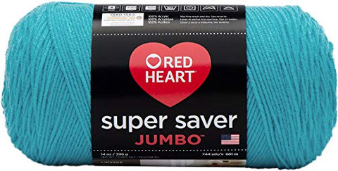 Red Heart Super Saver Jumbo Yarn, Turqua