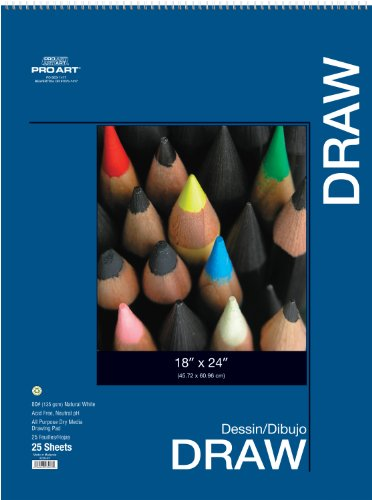 Pro Art 19-Inch by 24-Inch Drawing Pad