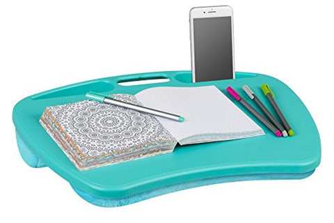 "LapGear MyDesk Lap Desk - Turquoise (Fits up to 15"" Laptop)"
