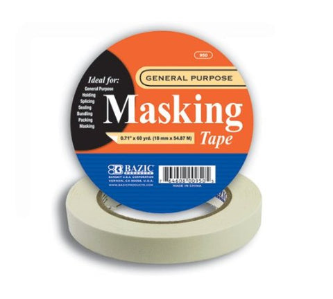 BAZIC (60 Yards) General Purpose Masking Tape
