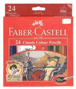 1 Box Classic Faber Castell Colored 24 Colors Pencils