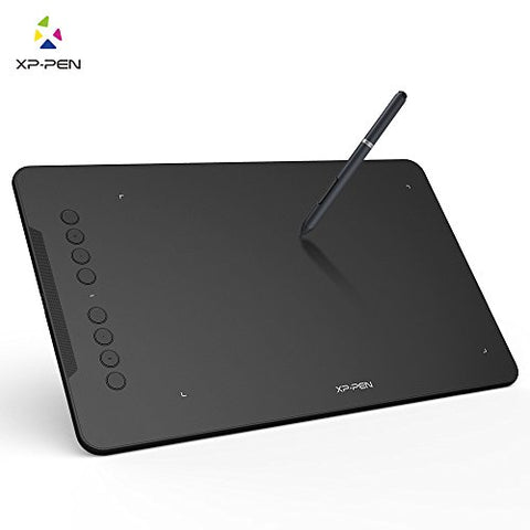 XP-Pen Deco 01 Graphics Drawing Tablet Pen Tablet with Battery-free Passive Stylus and 8 shortcut