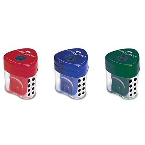 Faber-Castell GRIP AUTO LOCK Pencil Sharpeners (Classic colours), Perfect For School and Work |