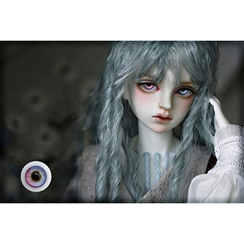 HMANE BJD Dolls Eyes, 16mm Glass Spring Dew Double Color Eyeball for 1/3 1/4 BJD Dolls (No Doll)