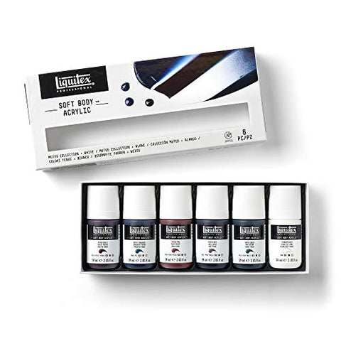 Liquitex Professional Soft Body Acrylic Paint, Muted Collection, 6 Colors