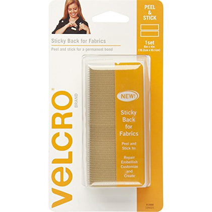 Velcro(R) Brand Sticky Back For Fabric Tape 4x6-Beige