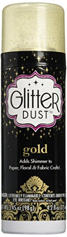 Therm O Web Glitter Dust Aerosol Spray 4.2oz, Gold