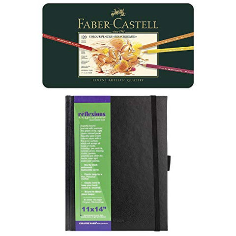 Faber-Castell Polychromos Artist Colored Pencils Set - Tin of 120 Colors - Premium Quality