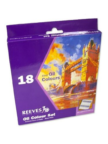Reeves Assorted 12-Milliliter Oil Paint, 18-Pack