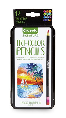 Crayola Tri-Color Pencils w/Tin