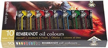 Rembrandt Oil Colour 10x15ml Tube Basic Paint Set