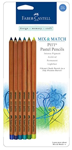 Faber-Castell Design Memory Craft PITT Pastel Pencils, Ultra Fine Point with India Ink for