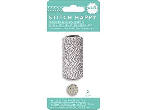 We R Memory Keepers We R Memory Stitch Happy Bakers Twine&Bobbin Grey Sth