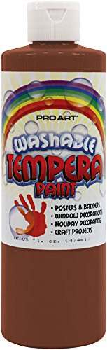Pro Art Liquid Washable Tempera Paint, 16-Ounce, Brown