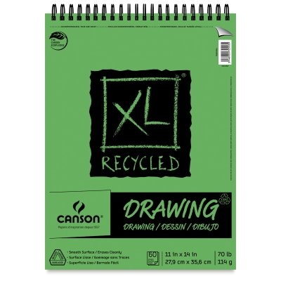 Pro-Art 9-Inch by 12-Inch Canson Recycled Drawing Paper Pad, 60-Sheet, X-Large