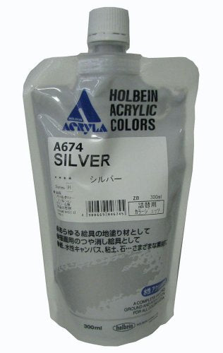 Holbein Color Gesso Silver 300ml