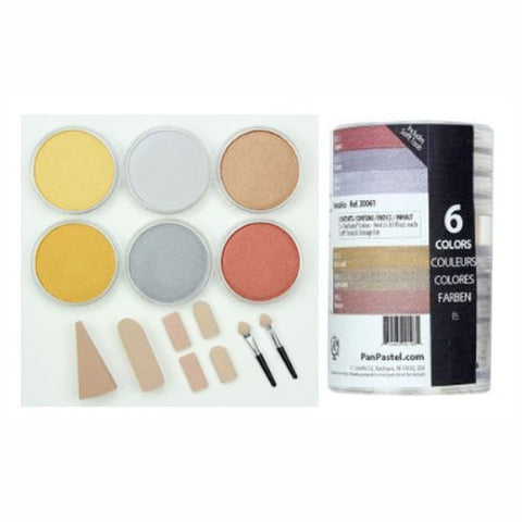 Colorfin PanPastel Ultra Soft Artist Metallic Pastel Set, 9ml, Set of 6, 6-Pack by Colorfin