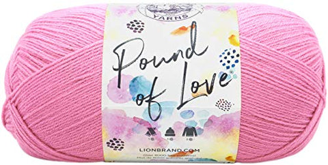 Lion Brand Yarn 550-102 Pound of Love Yarn, Each, Bubble Gum