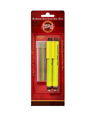 SET of 2 KOH-I-NOOR S128 TAILOR'S CHALK 3,8mm Mechanical Pencil Lead Holder + Refill Set
