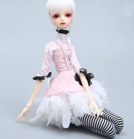 Fantasy Pink Dress Cloth for 1/4 BJD SD MSD Doll