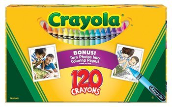 7 Pack CRAYOLA LLC FORMERLY BINNEY & SMITH NON PEGGABLE CRAYONS 120CT