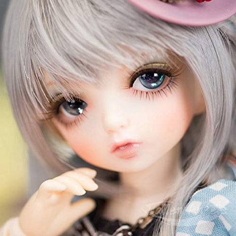 ZDD BJD Doll 1/6 SD Dolls 10.2 Inch Ball Jointed Doll Full Set with Clothes Shoes Wig Hair Makeup 100% Handmade DIY Toys Best Gift for Girls