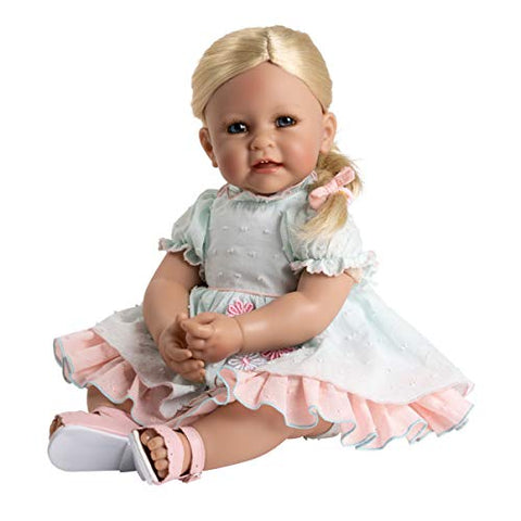 Adora Toddler Tea Party in Pretty Pastel Party Dress, Pink Sandals and Diaper, Multicolor (22096)